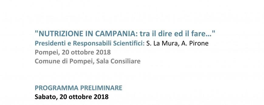 Nutrizione in Campania: tra il dire ed il fare