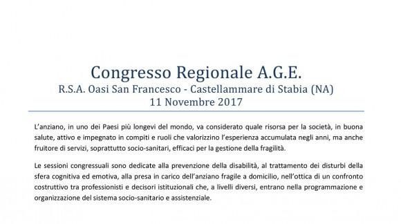 Congresso Regionale A.G.E.