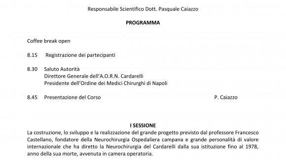 La Neurochirurgia del Cardarelli ieri, oggi e domani.