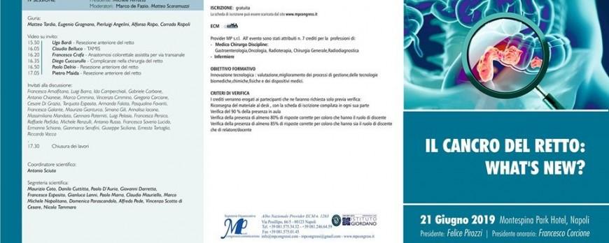 Il cancro del retto: what's new?
