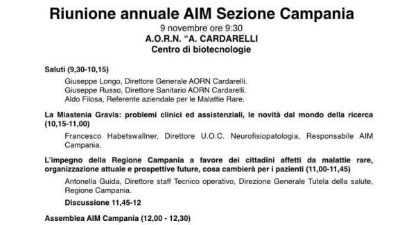 Riunione annuale AIM Sezione Campania