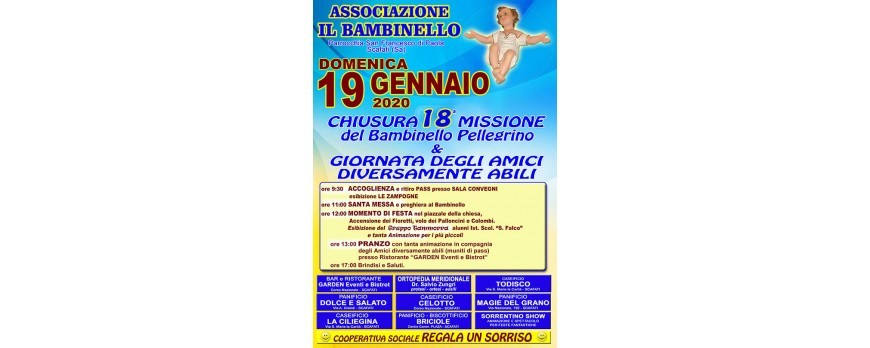 Chiusura 18^ Missione del Bambinello Pellegrino