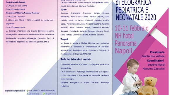 Scuola SIUMB di ecografica pediatrica e neonatale 2020