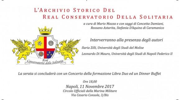 """Presentazione volume """"L'archivio storico del real conservatorio della solitaria"""""""