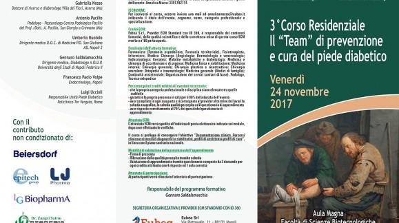 """3° Corso Residenziale Il """"Team"""" di prevenzione e cura del piede diabetico"""