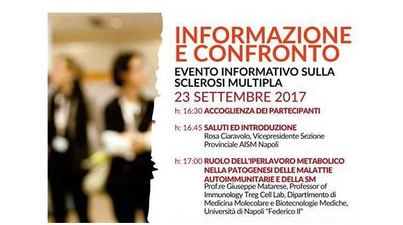 INFORMAZIONE E CONFRONTO - EVENTO INFORMATIVO SULLA SCLEROSI MULTIPLA