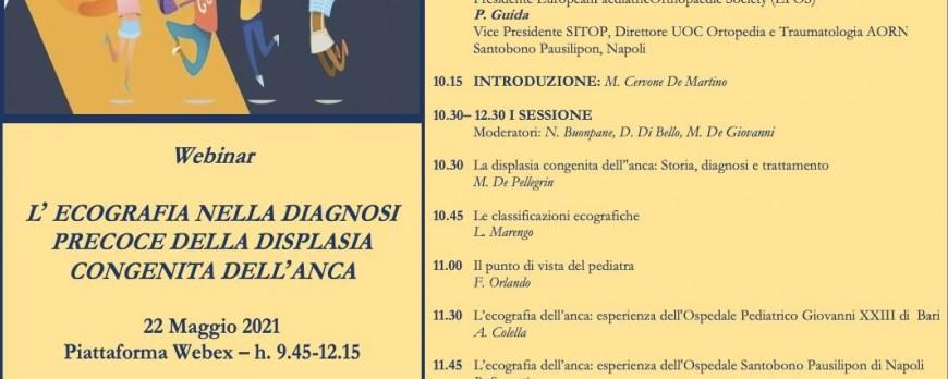 L' ecografiaA nella diagnosi precoce della displasia congenita dell'anca