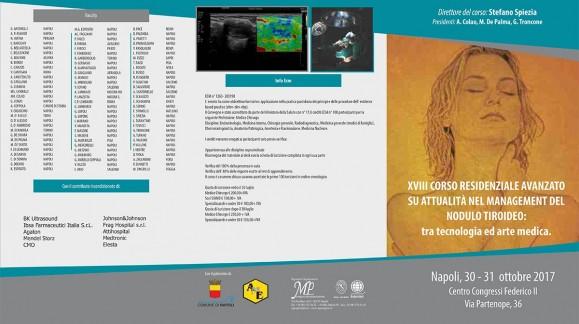 XVIII Corso residenziale avanzato su attualità nel management del nodulo tiroideo: tra tecnologia ed arte medica